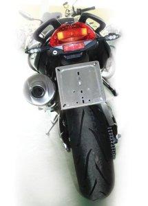 Lampa-Porte plaque d'immatriculation en acier inoxydable Chrome