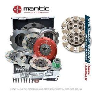 Mantic Track Premium kit d'embrayage Convient GM–Mantic Aluminium billet Cover Assembly | Twin Cerametallic d'embrayage avec matériau de friction fabriqué en Allemagne | Release Roulement | billet usiné solide de masse volant d'inertie (SMF) avec boulons kit | Embrayage alignement Outil (M921207)