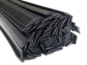 Plastique baguettes de soudure ABS Noir 8x2mm Plat 25 Barres