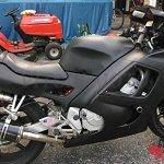 VITCIK Kits de boulons pour moto Honda CBR 600 RR F5 2003 2004 CBR 600 RR F5 03 04 attaches aluminium CNC (Noir & Argent)