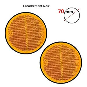 2 CATADIOPTRES ROND ORANGE