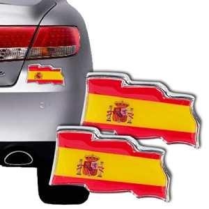 Autocollants Drapeau Espagnol pour Voitures (pack de 2)