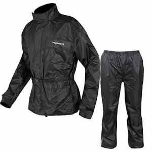 Combinaison Kit Anti Pluie Blouson Pantalon Gants Surbottes Impermeable noir XL