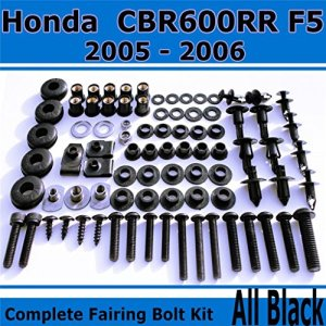 Ghmotor kit complet Carénage Boulon Vis pour Honda 20052006CBR 600rr F5Corps noir