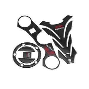 KODASKIN-EU Triple Arbre Avant Haut Pince Décalque Autocollants Réservoir Protecteur Pad pour Suzuki GSXR600 GSXR750 GSXR 1000 K6 K7 K8 K9 L1 2006-2012