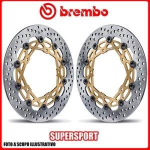208b85959Paire de disques de frein bREMBO Supersport Kawasaki H2H2r 1000cc 2015ø330