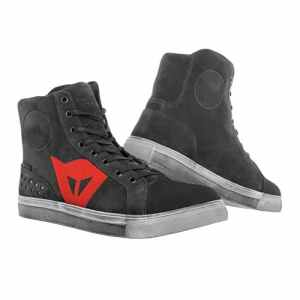 Dainese Chaussures de Moto, Carbon Scuro/Rouge, Taille 39