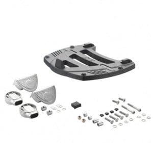 Givi–Plaques en aluminium M35–Kit complet pour FL bretelles de, Noir, 40