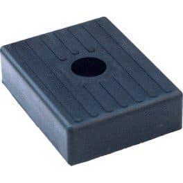ALCIUMPECHE Patin PM 010 Noir – 130×100 mm pour remorque