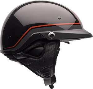 Bell Pin Pit Boss Cruiser Motorcycle Helmet – Orange/Black / X-Large/2X-Large by Bell