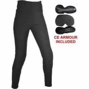 Bikers Gear Australia Limited pour femme avec doublure en Kevlar de protection pour moto Legging avec amovible CE Armour, Noir, taille 12