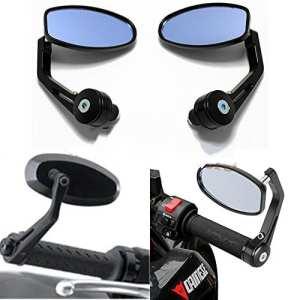 Evomosa 2x réglable 7/20,3cm 22mm Heavy Duty pour moto Street Bike Poignée d'extrémité de la barre latérale arrière miroirs pour BMW Suzuki Yamaha Honda Kawasaki Buell Ducati