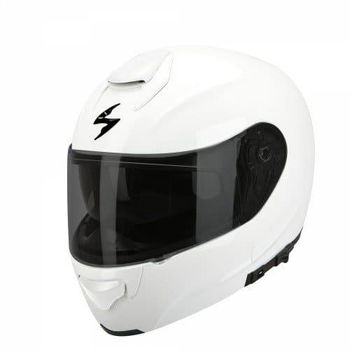 SCORPION Casque de Moto EXO-3000 AIR Solid, Blanc, 55-56