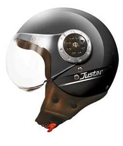 TORX Casque Moto Justin, Noir Mat, Taille XS