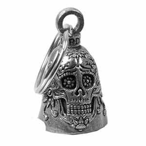 Clochette guardian bell tête de mort mexicaine sugar skull