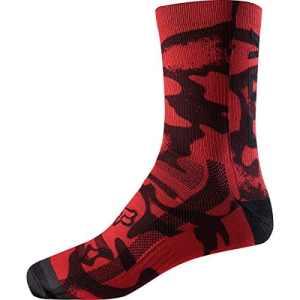 Fox 8Print Sock, Rouge/Noir, Taille S/M