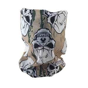 junkai Masque Tête de Mort Masque Crâne Toussaint Multi-Fonction Écharpe Serviette Bandana Mouchoir Ultra-léger Respirant Elastique Magique sans Soudure avec Motif