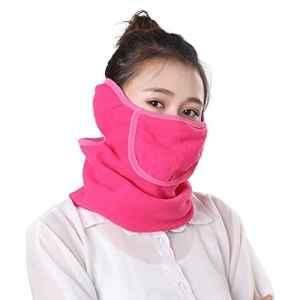 Lubier Cyclisme Visage Masque Cou Plus Chaud, Anti UV Unisexe Antipoussière et Coupe-Vent Demi-Masque pour Cyclisme en Plein Air Ski Pêche Escalade Size 1 (Rosy)
