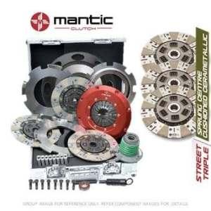 Mantic Track Premium kit d'embrayage Convient GM–Mantic Aluminium billet Cover Assembly | Triple Cerametallic d'embrayage, sans coussin, non à ressorts–Track utiliser uniquement | concentrique esclave Cylindre | billet usiné solide de masse volant d'inertie (SMF) avec boulons kit | Embrayage alignement Outil (M933202)