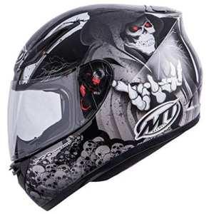 MT Revenge Reaper casque de moto–Noir/Gris–Medium