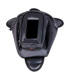 Sacoche Réservoir Moto Magnétique, Petit Sac Rangement de Réservoir Moto avec 3 Aimants et Housse Transparente pour Smartphone/Téléphone Portable/GPS (1pc:Noir)