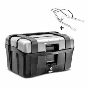 Top Case Set Honda CB 1100 13-14 Givi Monokey TRK46N noir avec chrome support