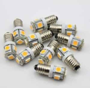 10x Ampoule LED Blanc chaud E106V Volt AC DC Vélo 5SMD culot à vis lampel