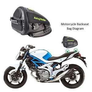 Ai CAR FUN Sacoche Moto Universelle, 4L Sac Rangement pour Moto Siège Arrière Double Usage Sac à Bandouliere pour Ranger Téléphone, Portefeuille, Clés Moto Accessoire(1pc:30 * 28 * 21cm)
