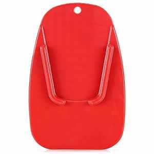 Hemore Support de Plaque de Support de béquille latérale pour Moto J001 Rouge