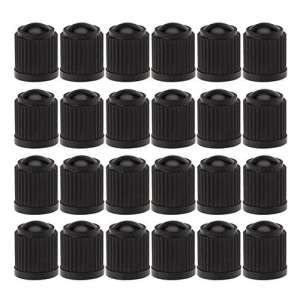 Lot de 24Bouchons de valve de pneu, noir