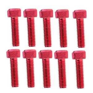 Sharplace 10pcs M6x20mm Aluminium Vis à Tête Hexagonale Vis Tête Clé Boulon – Rouge