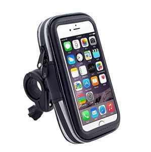 Topdo 1PC Support Téléphone étanche Pluie Portable Vélo Moto Rotatif à 360 Bracelet Taille Réglable Compatible avec 4.0 inches Pouce