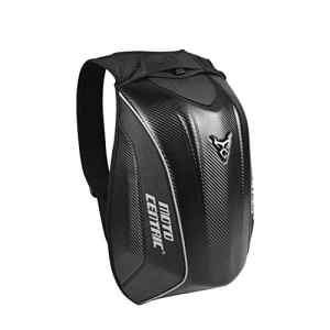 Bulary Moto Sac à dos Réservoir étanche Sacs Coque rigide Air Flow Track Riding Aucun Drag Back Pack Multifonction Hard Shell Sac Riding Luggage Sac à dos Épaule Seat Queue Pack