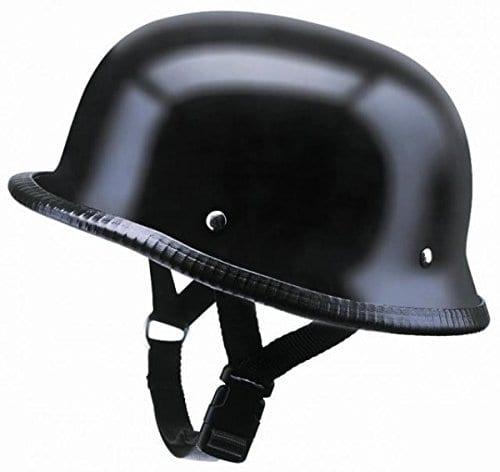 Casque type Allemand Noir Mat pour Shows et rassemblements Moto Custom (XL)