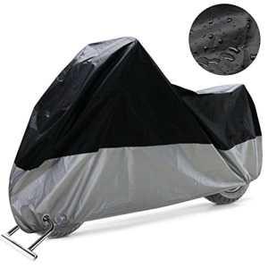COFIT Housse de Protection pour Moto, Couverture Imperméable Anti Vent Poussière UV Pluie Humidité De Neige Protection avec Trous de Verrouillage – XXL