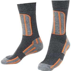 FLM chaussettes de sport courtes pour femme, Orange, 41 – 45