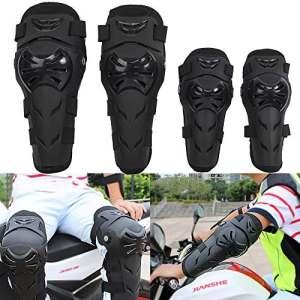 KT-SUPPLY Ensemble de Genouillères Pour Moto Vélo Protection des Genouillères et des Coudes Motocross