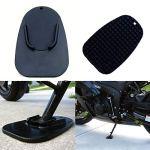 Moto côté support Pad, stationnement Scooter côté support Portable pratique Pad Moto Béquille, noir