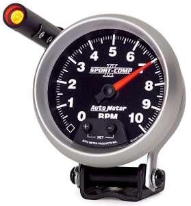 Auto Meter 3690 Sport-Comp II 3-3/8 10000 RPM Shift-Lite Tachometer by Auto Meter
