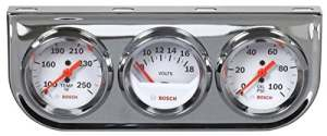 Bosch Sp0F000046Style Line 5,1cm Triple Gauge Kit (Cadran Blanc Visage, Chrome Bezel)