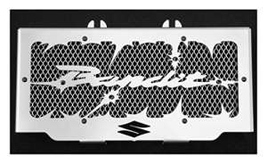cache radiateur/grille de radiateur Suzuki GSF 600 Bandit 95>04 et 650 Bandit 05>06 design Hold up + grillage alu