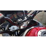 CBFYKU Rox Speed Moto Accessoires Support De Guidon Support Rotatif Guidon Riser Volant Hauteur Réglable Universel 22mm 28mm