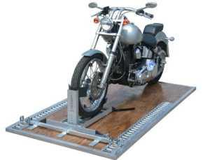 Condor #PS1500 Etrack Adaptateur universel de 2 cales de roue pour moto en aluminium