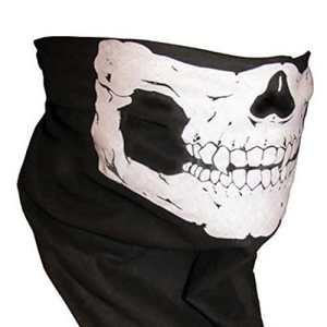Coolcase crâne squelette masque visage de Patinage de moto ski Vélo Masque Chauffant noir Noir Style1