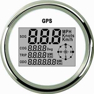 étanche numérique GPS Compteur de vitesse Odomètre pour auto Marine Camion avec rétro-éclairage 3–3/20,3cm (85mm) 9–32V