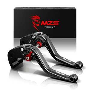 MZS Short Brake Clutch Levers for Yamaha YZF R1 2004-2008,YZF R6 2005-2016-Black by MZS