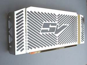 Suzuki SV650 N/S SV 650 Capot de radiateur en acier inoxydable 03-04 RoMatech