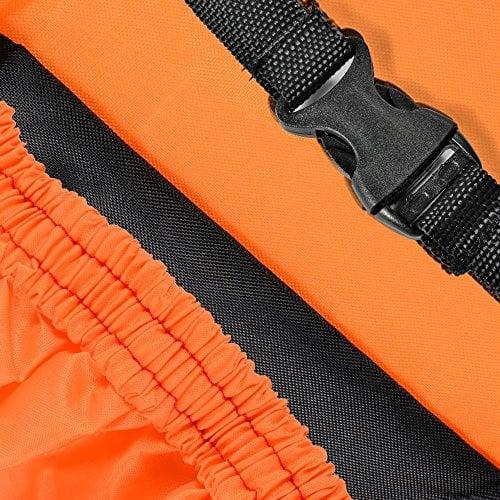 Taille xL bâche de protection intégrale pour moto étanche avec housse de protection garage x 245 x 105 125 cM hydrofuge et au froid orange & noir