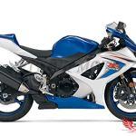 VITCIK Autocollants pour carénages de motos de course Suzuki GSXR1000 K7 2007 2008 GSXR 1000 GSX R1000 K7 07 08 (Bleu & Argent)