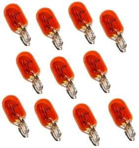 Aerzetix: Lot de 10 Ampoules WY5W T10 12V 5W Ambré Orange pour clignotants auto moto – C1724